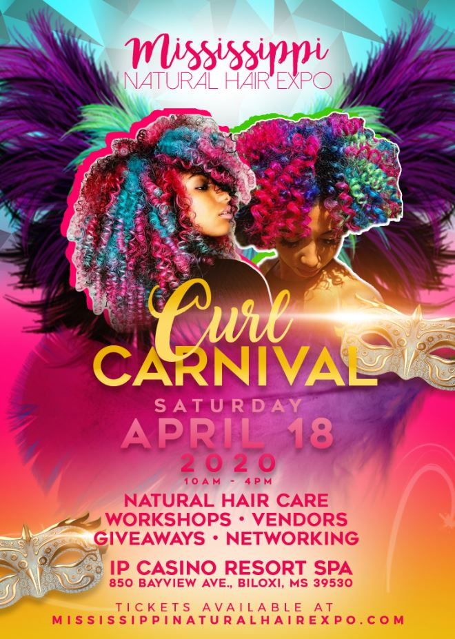 Mississippi Natural Hair Expo Curl Carnival Poster