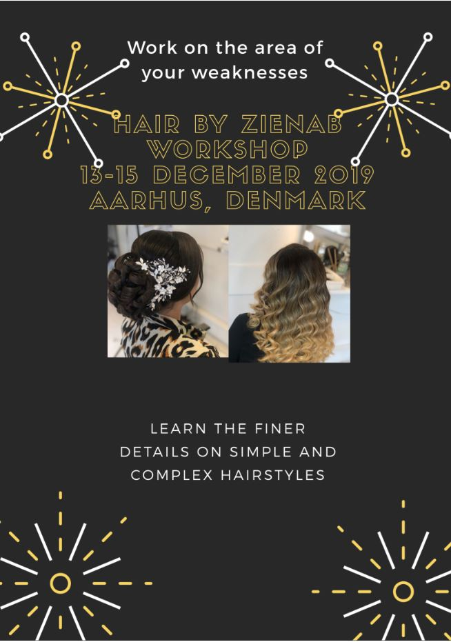 Hair by Zienab December Workshop Poster