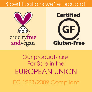 Jessicurl is Certified in the European Union, Gluten Free, and Cruelty Free and Vegan