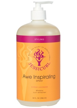 Curly Hair Style Products - Awe Inspiraling Spray from Jessicurl's line of styling products