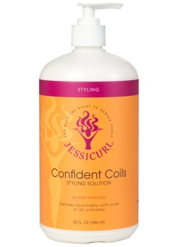Curly Hair Style Products - Confident Coils Styling Solution from Jessicurl's line of styling prod