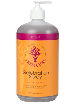 Curly Hair Style Products - Gelebration Spray from Jessicurl's line of styling products