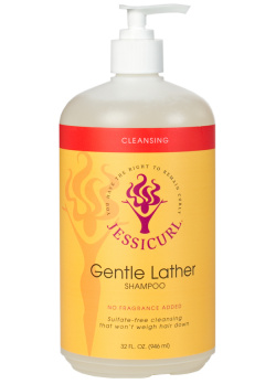 Curly Hair Style Products - Gentle Lather Shampoo from Jessicurl's line of cleansing products