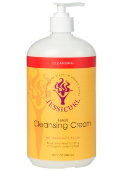 Curly Hair Products - Hair Cleansing Cream from Jessicurl's line of cleansing products