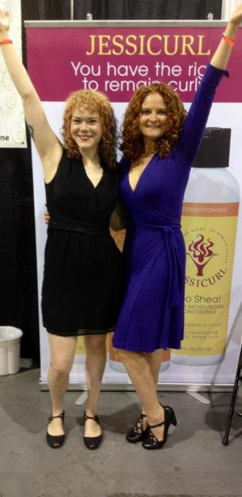 With Jess from Imago, the awesome curly who did my color